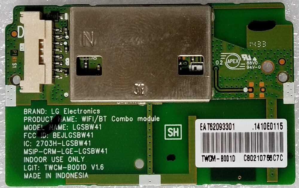 Eat62093301 Modulo Wi Fi Lg 55lb650 55lb730 E Altri Modelli.