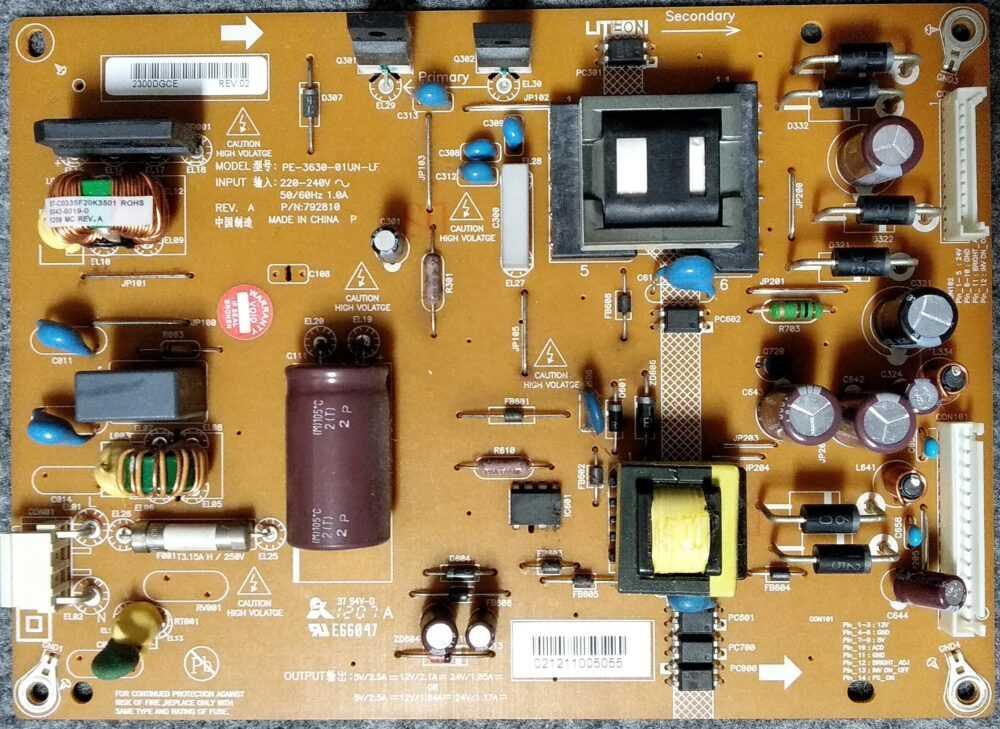 PE-3630-01UN-LF - Modulo power Toshiba 26EL934G TV Modules