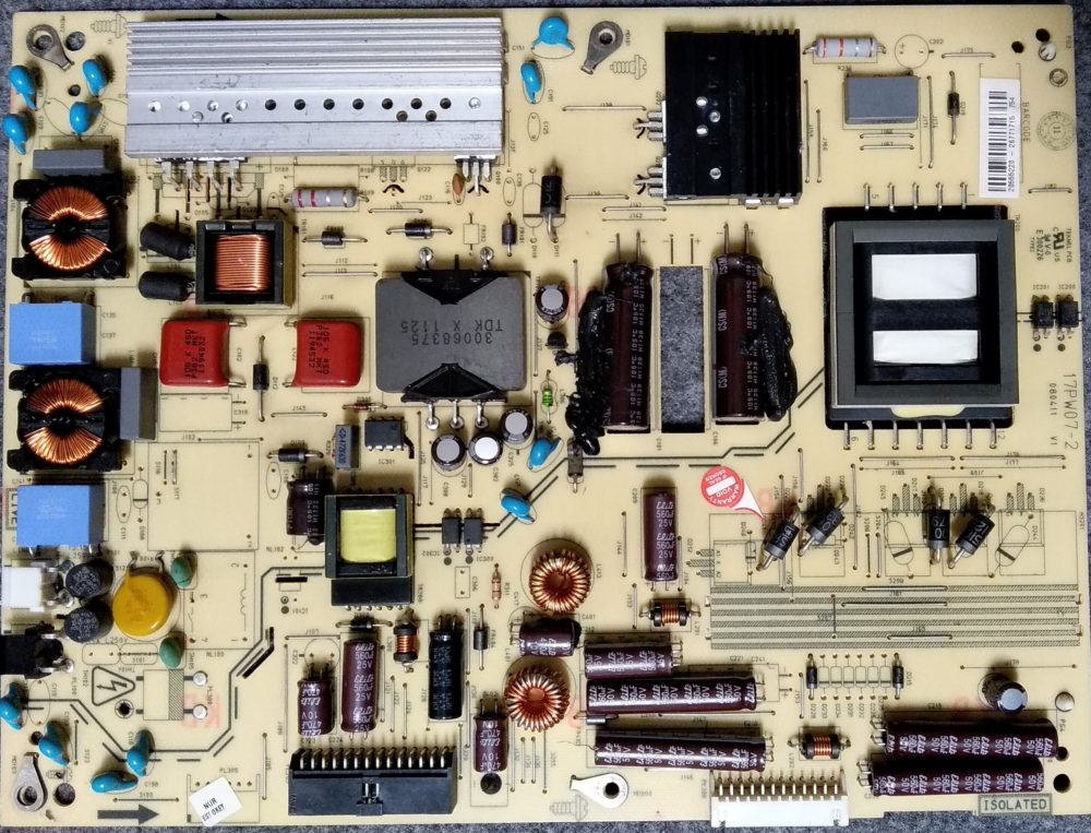 17PW07-2 V1 - Power SHARP LC-40LE343E TV Modules
