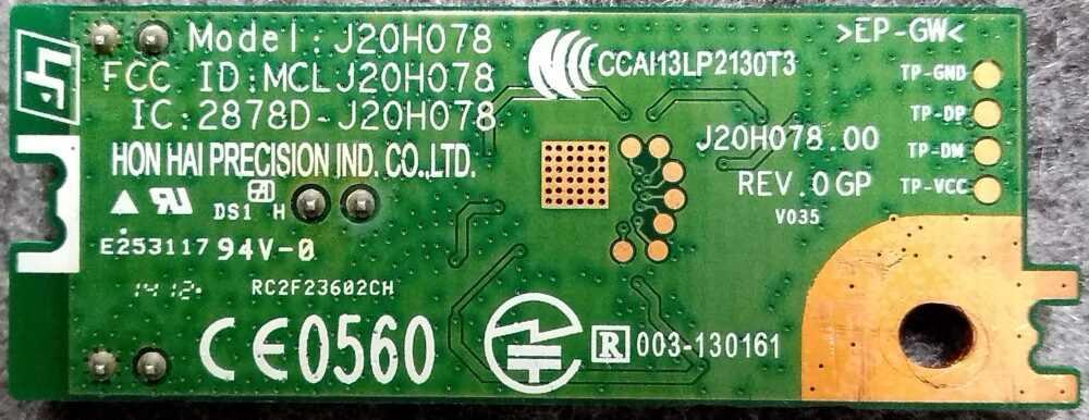 Sony KDL-32R433B - J20H078.00 Rev. O - Modulo WI-FI B TV Modules