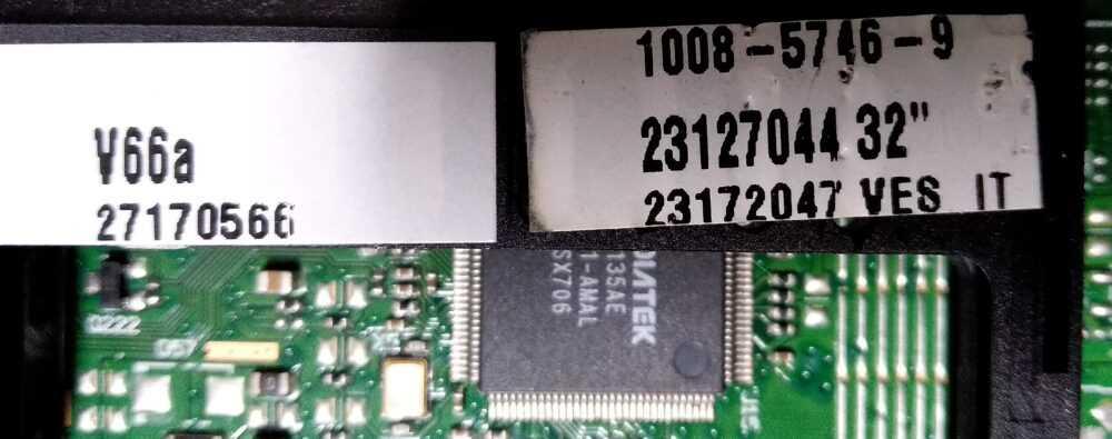 Codice main TV Modules