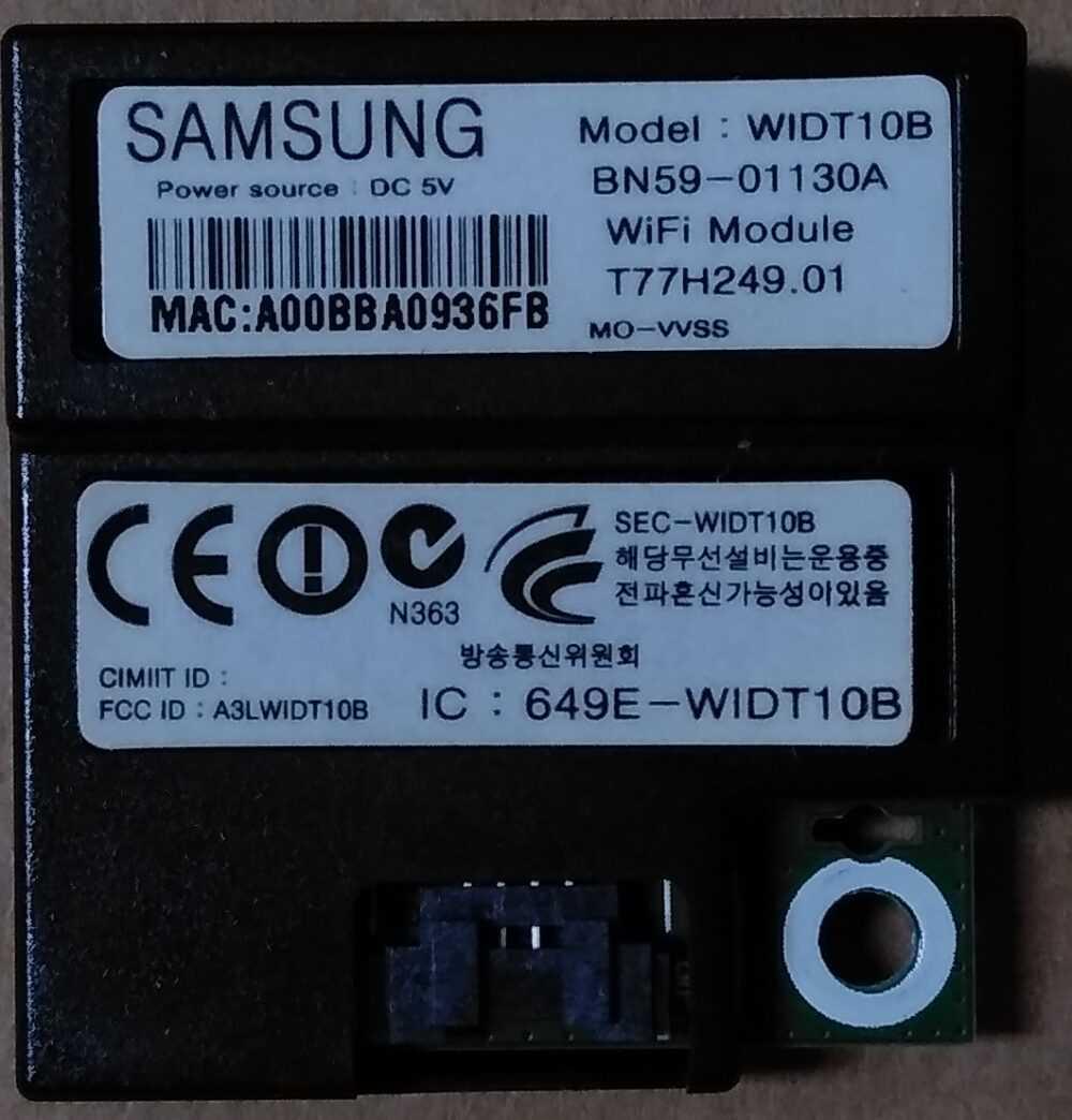 BN59-01130A - Modulo WI-FI Samsung UE40D6510WQXZT TV Modules