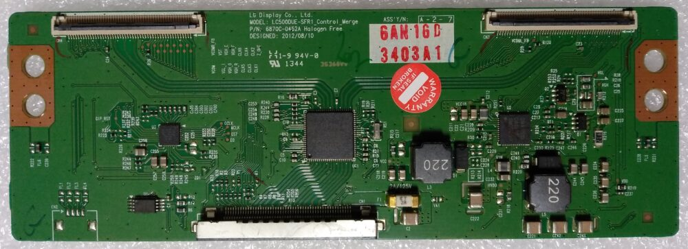 LC500DUE-SFR! - 6870C-0452A - Modulo T-Con LG 42LN5200-ZA.BPIYLJG - Pannello LC420DUE(SFXR5) TV Modules