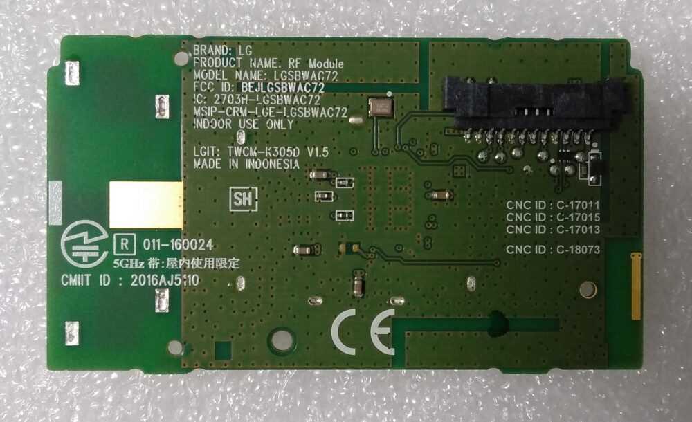 EAT63377302 - Modulo WI-FI LG 65UK6500PLA.BEUWLJP - B TV Modules