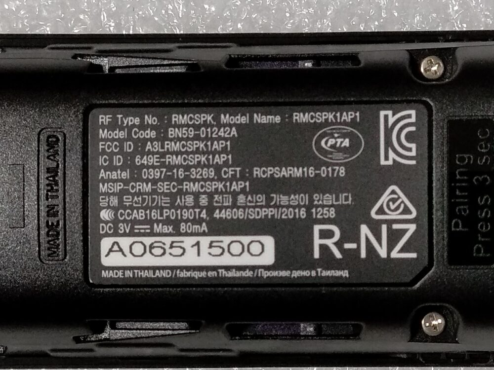 BN59-01242A - RMCSPK1AP1 - Telecomando Samsung UE65KS8000TXZT A TV Modules