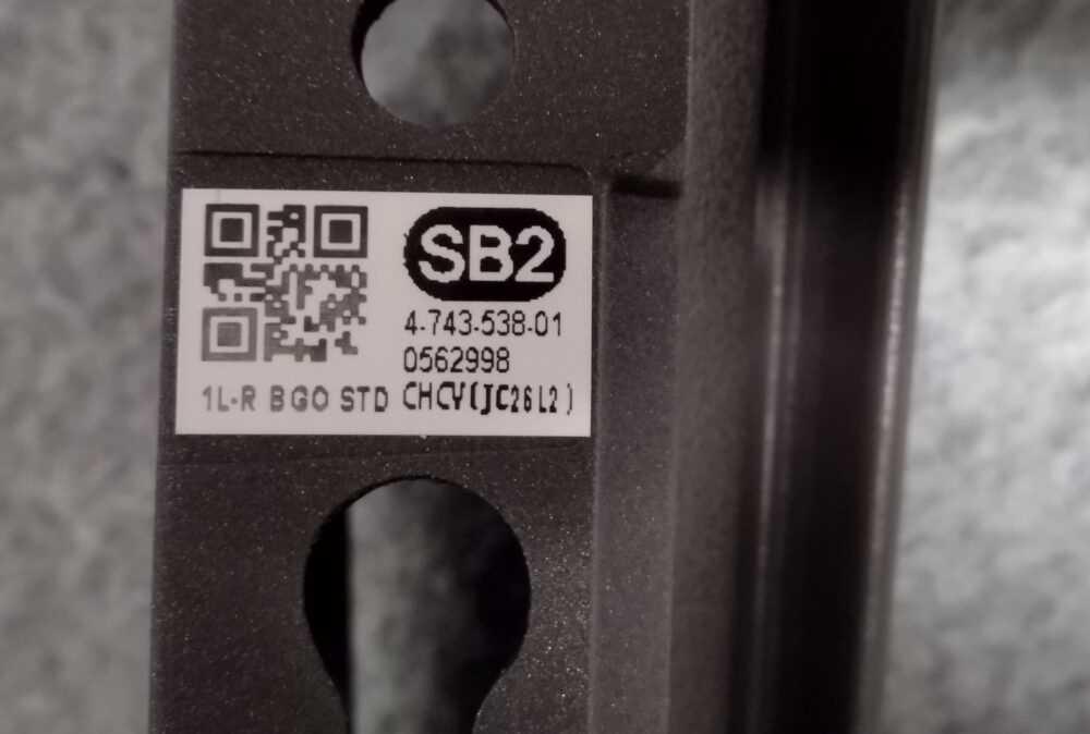 4-743-538-01 - Piedino destro TV Sony 55XG9505 TV Modules