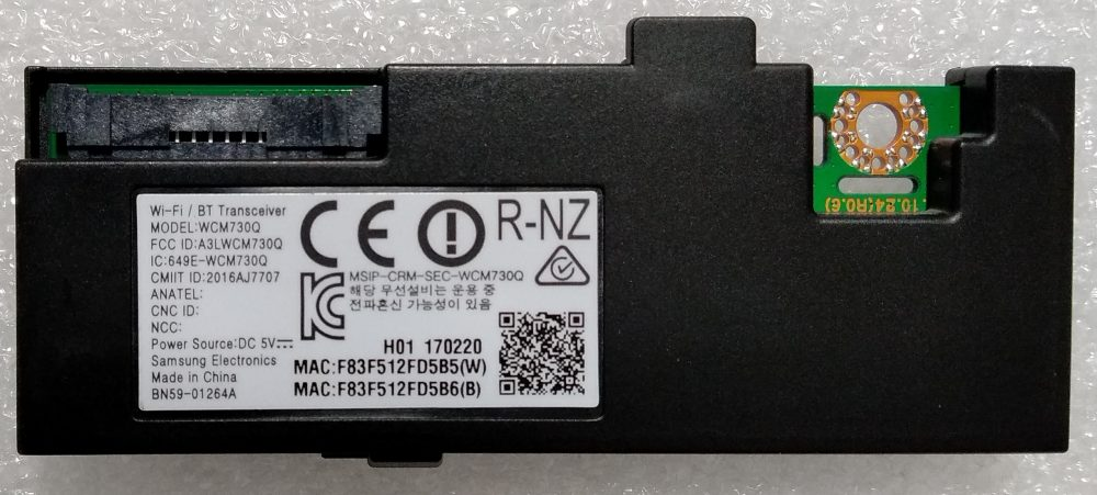 BN59-01264A - WCM730Q - Modulo WI-FI Samsung UE43M5500AKXZT - TV Modules