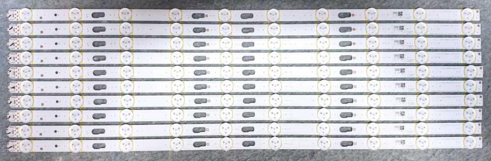 BN96-48131A - Kit di 20 barre led Samsung QE55Q82TATXZT - Pannello CY-TT055FMAV2H TV Modules