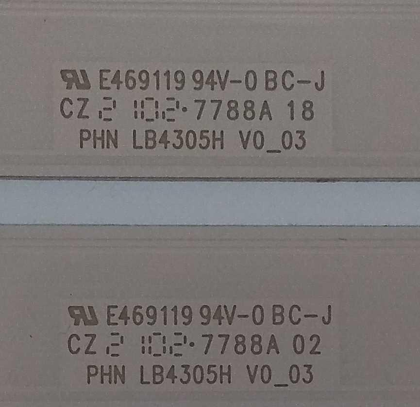 E469119 94V-0-BC-J - Kit barre led Sony KD-43X80J TV Modules