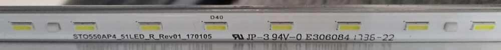 STO550AP4_51LED_R_Rev01 - Barra led Sony KD-55XE8577 B TV Modules