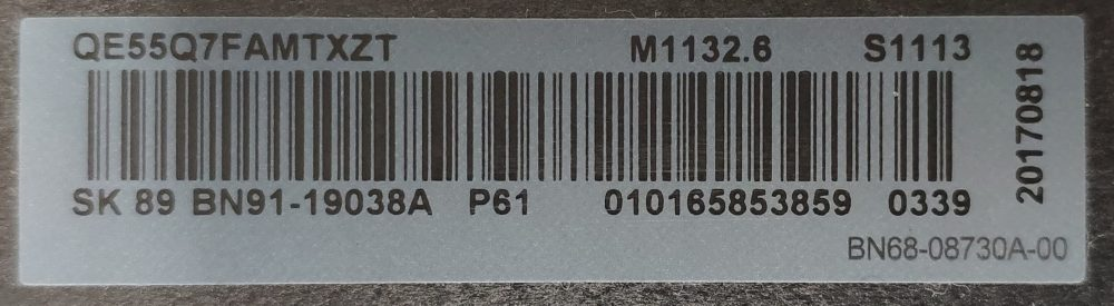 Etichetta one connect TV Modules