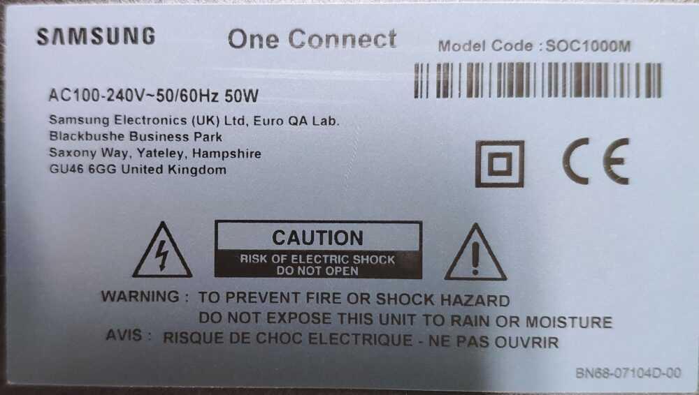 Etichetta one connect 2 TV Modules